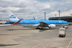 KLM - Boeing 777 Immagine Stock