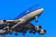 KLM Boeing 747-400 fotografering för bildbyråer