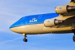 KLM Boeing 747 Photographie stock libre de droits