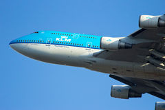 KLM Boeing 747 Royalty Free Stock Photography
