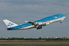 KLM Boeing 747-400 Jumbo Jet Royalty Free Stock Photography