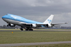 Klm boeing 747 take off Stock Image