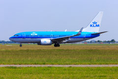 KLM Boeing 737-700 Foto de Stock Royalty Free