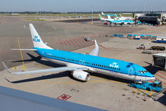 KLM Boeing 737 Royalty Free Stock Photos
