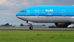 KLM Boeing 777 antes da partida filme
