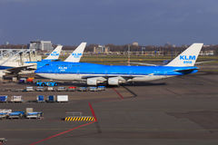 KLM Boeing 747-400 Royalty Free Stock Photos