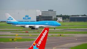 KLM Boeing 747 avvikelse lager videofilmer