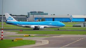 KLM Boeing 747 avvikelse arkivfilmer