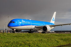 KLM Boeing 787 Dreamliner Arkivbild
