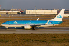 KLM Boeing 737 Royalty Free Stock Photo