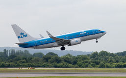 KLM Boeing 737 Royalty Free Stock Images