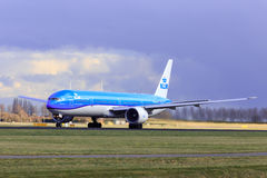 KLM Boeing 777 in new livery Stock Photos