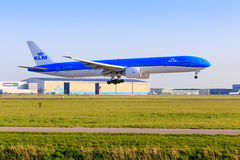 KLM Boeing 777 in new livery Royalty Free Stock Images