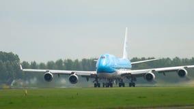 KLM Boeing 747 odjazd zbiory