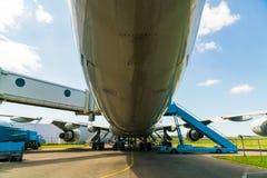 KLM Boeing 747 PH-BUK flygplan som visas på det Aviodrome flygplanmuseet Arkivbild