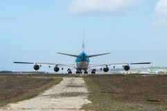 KLM Boeing 747. Ready for take off Royalty Free Stock Images