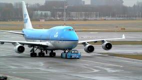 KLM Boeing 747 stock video footage