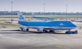 KLM. Busy day in Schiphol airport Stock Photo