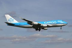 KLM Cargo Boeing 747-400F royalty free stock photo
