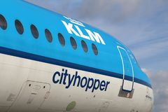 KLM Cityhopper Royaltyfria Bilder