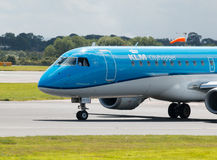 KLM Cityhopper Embraer ERJ-190 Royalty Free Stock Photography