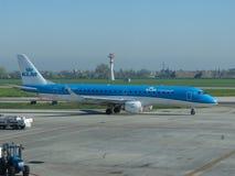 KLM Cityhopper Embraer ERJ-190STD Imagens de Stock