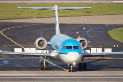 KLM Cityhopper Fokker F70 Royalty Free Stock Images