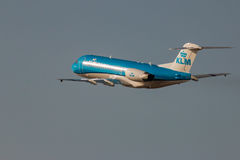 KLM Cityhopper Fokker 70 royalty free stock photography