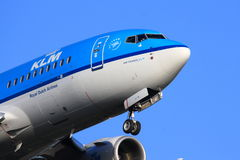 KLM jet close-up Stock Photos