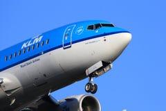 KLM jet close-up Stock Photos