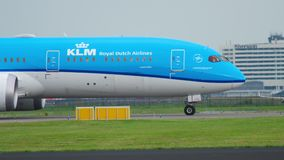 KLM Dreamliner taxiing zbiory