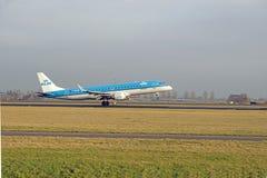 KLM Embraer ERJ190-100 Arkivfoton