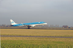 KLM Embraer ERJ190-100 Stock Photos