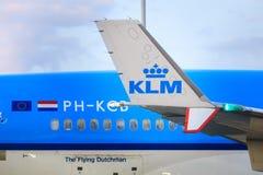 KLM führen einzeln auf Stockfotografie