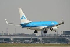 KLM-Fläche Boeing 737-700 Stockbild