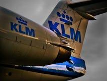 KLM flygplan Royaltyfri Fotografi