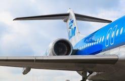 KLM hyvlar på Schiphol Fotografering för Bildbyråer