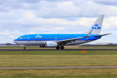 KLM jet motion blur Stock Photo