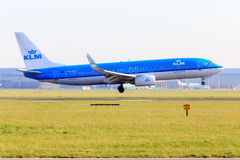 KLM 737 landing Stock Photography