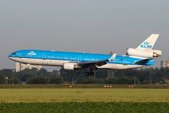 KLM - linee aeree McDonnell Douglas MD-11 di Royal Dutch Fotografia Stock