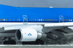 KLM-Maschine Stockbild
