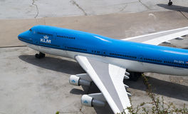 KLM model plane Royalty Free Stock Photo