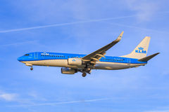 KLM 737 in new livery Royalty Free Stock Photos
