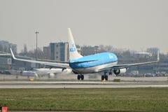 KLM nivå Boeing 737-700 Arkivbild