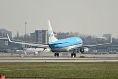 KLM plane Boeing 737-700 Stock Photography