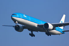 KLM plane landing Stock Image
