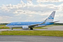 KLM plane Royalty Free Stock Images