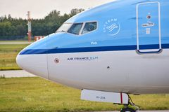 KLM plane Stock Image