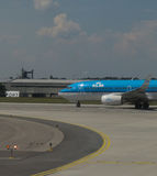 KLM Royal Dutch Airlines aircraft in Prague Stock Photography