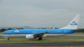 KLM/Royal Dutch Airlines Boeing 737-800 Στοκ φωτογραφία με δικαίωμα ελεύθερης χρήσης